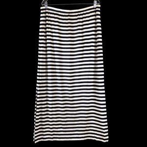 Banana Republic Striped Split Maxi Skirt